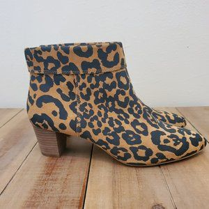 Lucky Brand zaprika Leather Flat Booties size 10